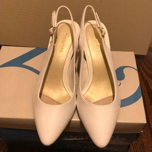 New In Box Cabrini White Heel